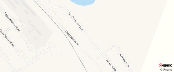Улица Островского на карте села Бурлы с номерами домов
