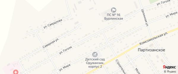Улица Гоголя на карте села Бурлы с номерами домов