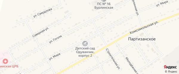 Улица Мира на карте села Бурлы с номерами домов