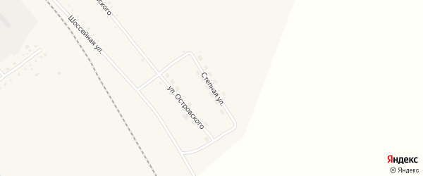 Степная улица на карте села Бурлы с номерами домов