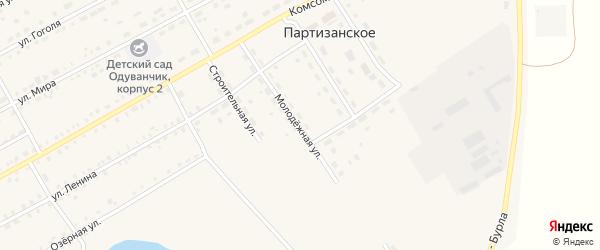 Молодежная улица на карте Партизанского села с номерами домов