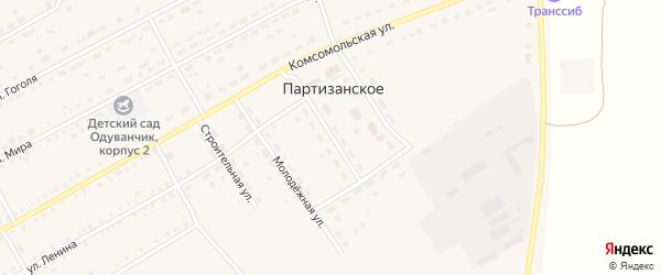 Улица Жуковского на карте Партизанского села с номерами домов