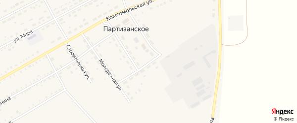 Улица 60 лет Октября на карте Партизанского села с номерами домов