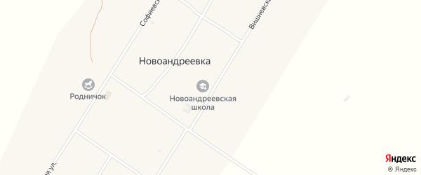 Вишневская улица на карте села Новоандреевки с номерами домов
