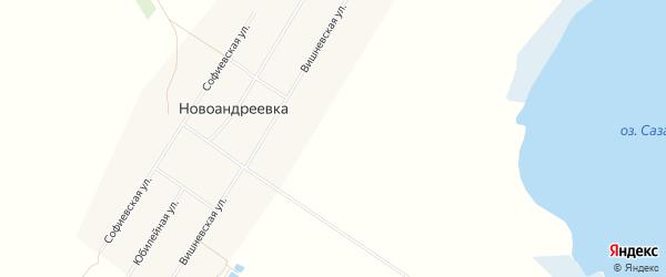Карта села Новоандреевки в Алтайском крае с улицами и номерами домов