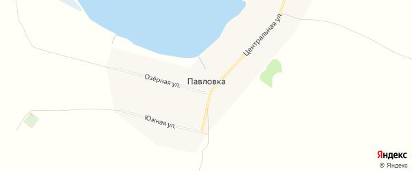 Карта села Павловки города Славгорода в Алтайском крае с улицами и номерами домов