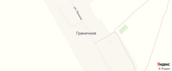 Переулок Ленина на карте Граничного села с номерами домов