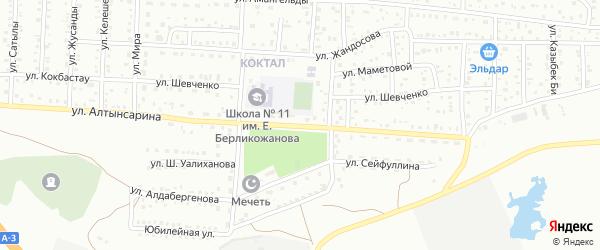 Улица Алтынсарина на карте поселка Тюры-Тама с номерами домов