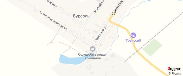 Южное шоссе на карте поселка Бурсоли с номерами домов