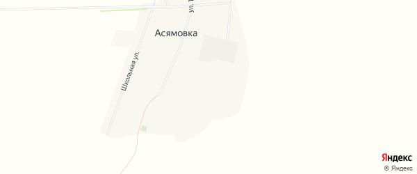Карта села Асямовка в Алтайском крае с улицами и номерами домов