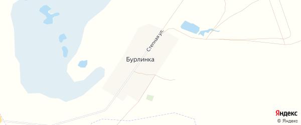 Карта села Бурлинка в Алтайском крае с улицами и номерами домов