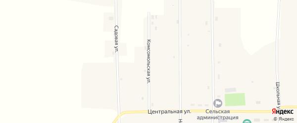 Комсомольская улица на карте Новопесчаного села с номерами домов