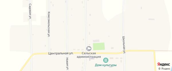 Молодежная улица на карте Новопесчаного села с номерами домов
