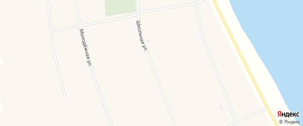 Школьная улица на карте Новопесчаного села с номерами домов