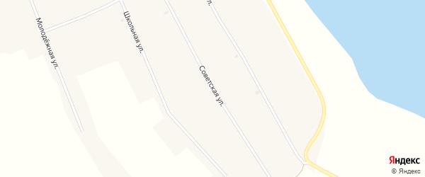 Советская улица на карте Новопесчаного села с номерами домов