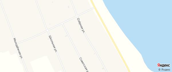 Озерная улица на карте Новопесчаного села с номерами домов