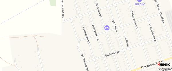 Крымская улица на карте Ярового с номерами домов