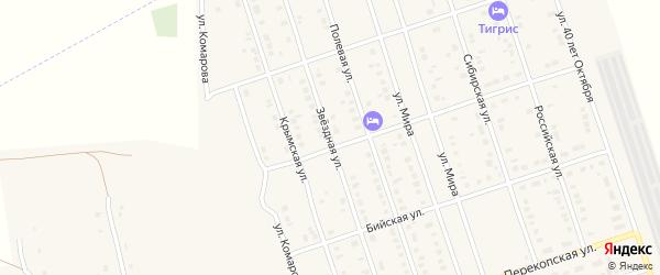 Звездная улица на карте Ярового с номерами домов