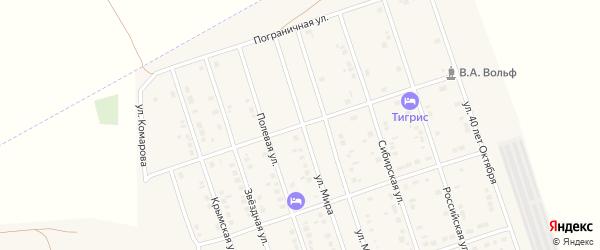 Улица Виталия Вольфа на карте Ярового с номерами домов