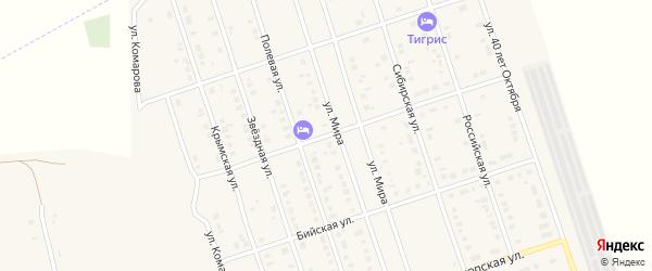 Степная улица на карте Ярового с номерами домов