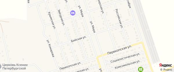 Бийская улица на карте Ярового с номерами домов