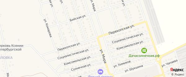 Перекопская улица на карте Ярового с номерами домов