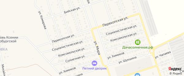 Социалистическая улица на карте Ярового с номерами домов