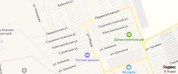 Комсомольская улица на карте Ярового с номерами домов