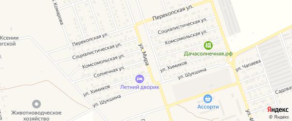Солнечная улица на карте Ярового с номерами домов