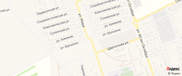 Улица Шукшина на карте Ярового с номерами домов