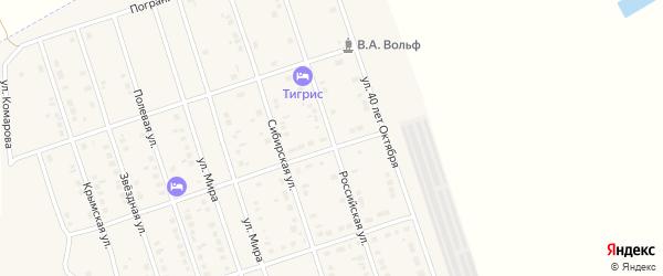 Российская улица на карте Ярового с номерами домов