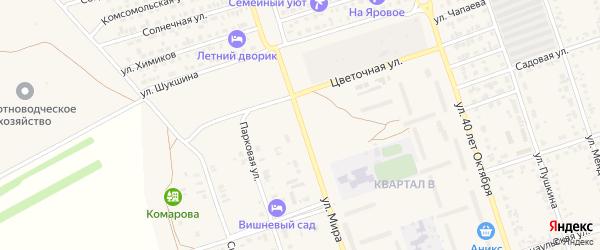 Улица Мира на карте Пригородного села с номерами домов