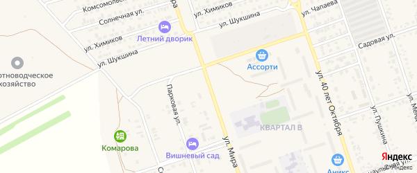 Улица Мира на карте Ярового с номерами домов