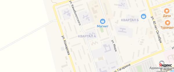 Квартал А на карте Ярового с номерами домов