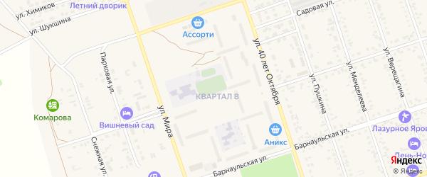 Квартал В на карте Ярового с номерами домов
