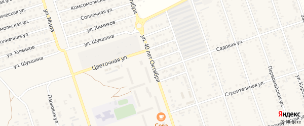 Улица 40 лет Октября на карте Ярового с номерами домов