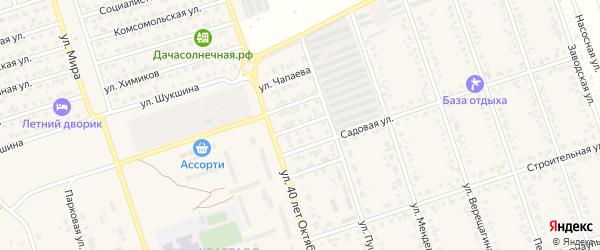 Партизанская улица на карте Ярового с номерами домов