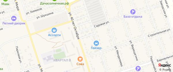 Зеленая улица на карте Ярового с номерами домов