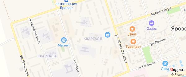 Квартал Б на карте Ярового с номерами домов