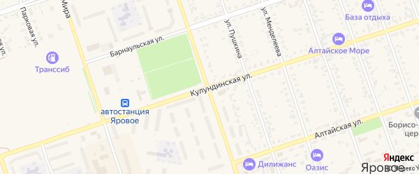 Кулундинская улица на карте Ярового с номерами домов