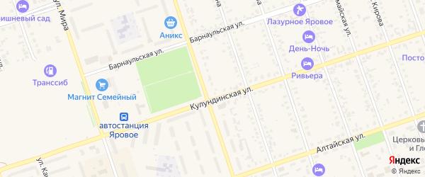 Западная улица на карте Ярового с номерами домов