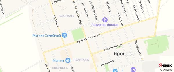 СТ Строитель на карте Ярового с номерами домов