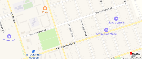Улица Пушкина на карте Ярового с номерами домов