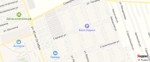 Садовая улица на карте Ярового с номерами домов
