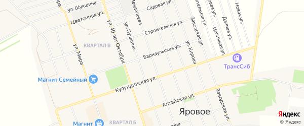 СТ Химик-1 на карте Ярового с номерами домов