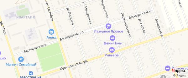 Микрорайон Промзона на карте Ярового с номерами домов