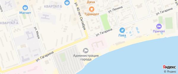 Улица Гагарина на карте Ярового с номерами домов