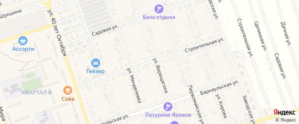 Строительная улица на карте Ярового с номерами домов