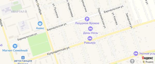 Улица Менделеева на карте Ярового с номерами домов