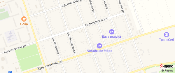 Улица Верещагина на карте Ярового с номерами домов